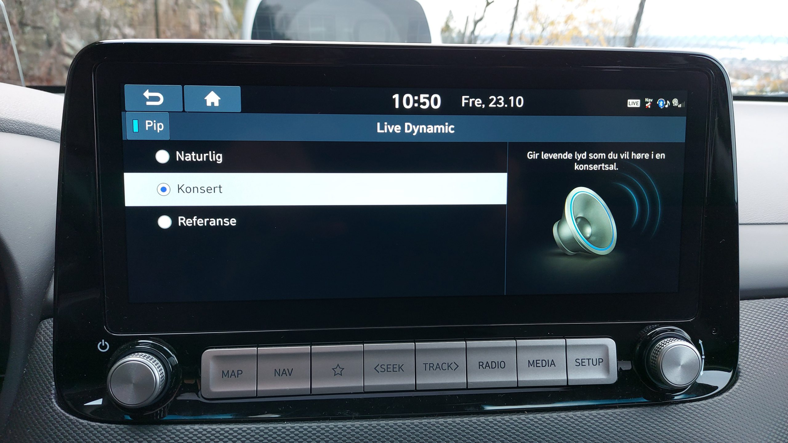 Hyundai Kona sound settings
