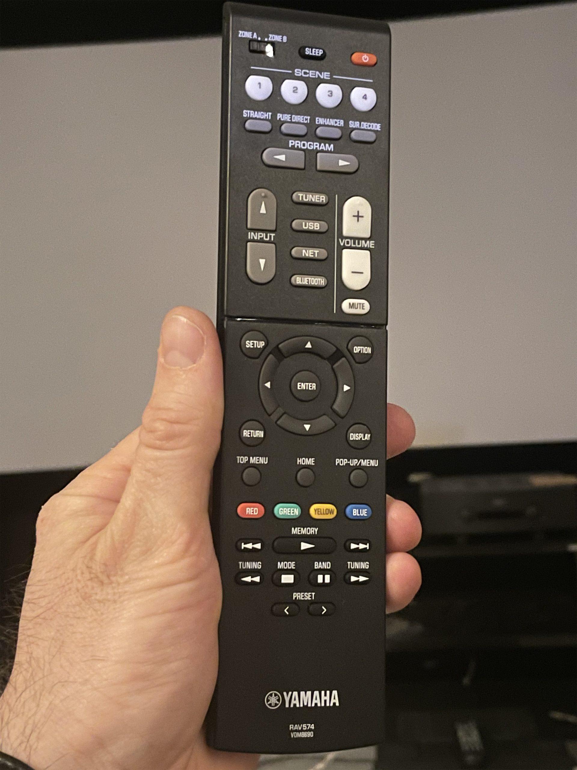 Yamaha RX-V4A remote(2)