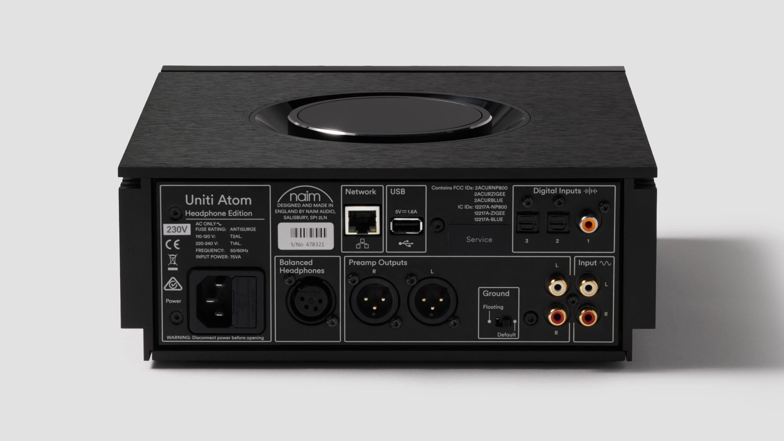 Naim Uniti Atom Headphone Edition - rear