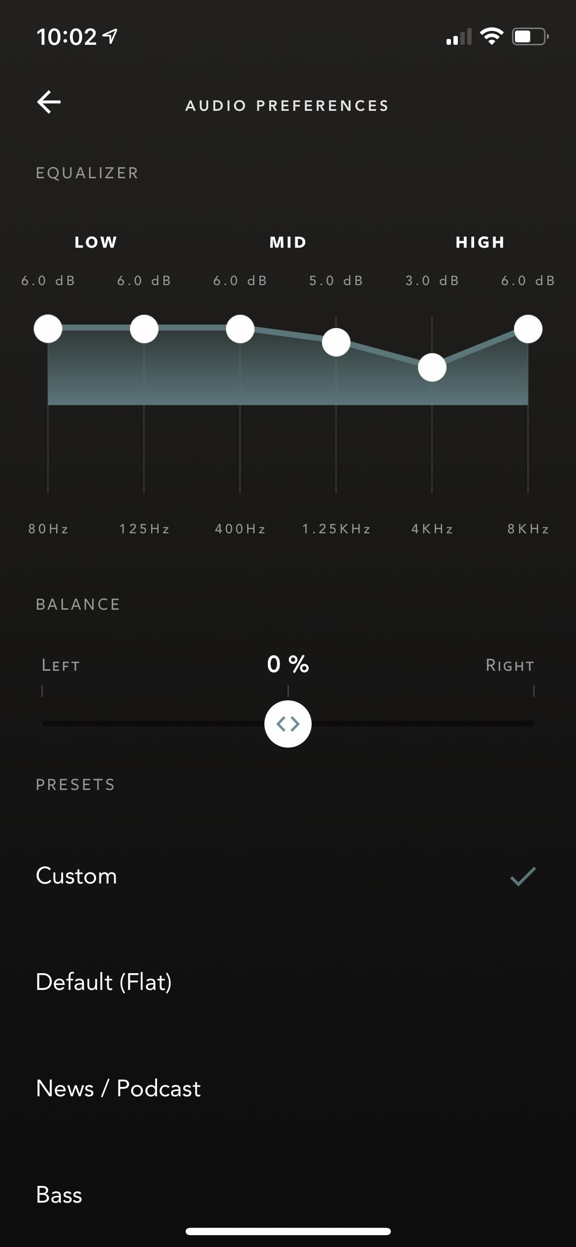 Devialet Gemini app EQ